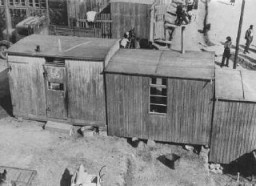 "<p>Forced-labor camp for <a href=""/narrative/4500/en"">Roma</a> (Gypsies). Lety, Czechoslovakia, wartime.</p>"