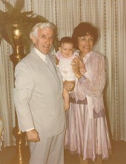 <p>Blanka and Harry with their first and only grandchild, Alexis Danielle.</p>