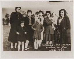 "<p>The Machefer family in Oradour. All of the people pictured here, except for the father, were killed by the SS during the June 10, 1944, massacre. <a href=""/narrative/11405/en"">Oradour-sur-Glane</a>, France, October 1943.</p>"
