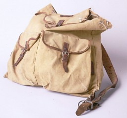 <p>This tan backpack was used by Ruth Berkowitz to carry her belongings as she fled from Warsaw via Lithuania and the Soviet Union to Japan. Most of her possessions were confiscated by both the Nazis and the Soviets during her journey. [From the USHMM special exhibition Flight and Rescue.]</p>
