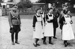SS officers and German nurses
