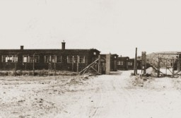 <p>View of the Natzweiler concentration camp. Photograph taken in 1945.</p>
