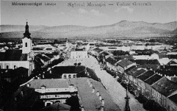 <p>Prewar view of the Transylvanian town of Sighet, Romania.</p>