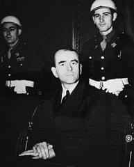 <p>Defendant Albert Speer during the International Military Tribunal trial of war criminals at Nuremberg. Germany, between November 20, 1945, and October 1, 1946. </p>