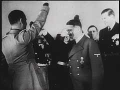 "<p>In Berlin, Germany, officials from Nazi Germany, Fascist Italy, and Imperial Japan sign the ten-year Tripartite Pact (the Three-Power Agreement), a military alliance. The pact sealed cooperation among the three nations (Axis powers) in waging World War II. This footage comes from ""The Nazi Plan,"" a film produced and used by the United States in the prosecution at the Nuremberg trials.</p>"