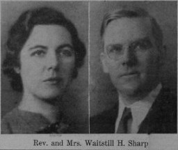 "<p>Portraits of <a href=""/narrative/10477/en"">Martha and Waitstill Sharp</a> from an unknown newspaper. Published before they left for Europe on a relief mission with the Unitarian Service Committee.</p>"