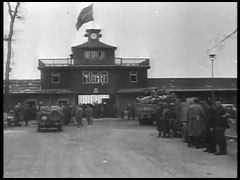 "<p>Clip from George Stevens' ""The Nazi Concentration Camps."" This German film footage was compiled as evidence and used by the prosecution at the Nuremberg trials.</p>"