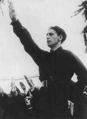 "<p>Horia Sima, leader of the Iron Guard and deputy prime minister of the Romanian government in 1940. Bucharest, <a href=""/narrative/6527"">Romania</a>, 1940.</p>