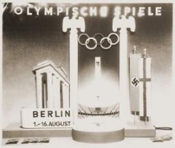 <p>Cartaz de divulgação dos 11° Jogos Olímpicos de Verão, realizados em Berlim, Alemanha, em 1936.</p>