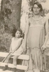 <p>Regina and her mother at the Busko-Zdroj spa (note that her mother used a cane and little Regina has been given a child's cane). Poland, early 1930s.</p>