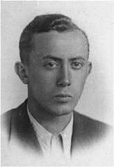 "<p>Arie Wilner, a founder of the Warsaw ghetto's Jewish Fighting Organization (ZOB). He was killed in the <a href=""/narrative/3636/en"">Warsaw ghetto uprising</a>. Warsaw, Poland, before 1943.</p>"