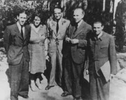 Miembros de la Comisión Sionista de Caridad y Rescate de Budapest.