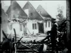 <p>Czech resistance fighters attacked Reinhard Heydrich, acting governor of the Protectorate of Bohemia and Moravia, in an ambush near Prague in May 1942. Heydrich died of his wounds on June 4, 1942. In retaliation for the attack, the Germans destroyed the village of Lidice on June 10, 1942. The Germans shot all the men in the village and deported most of the women and children to camps in Germany. This footage shows destroyed homes and German officials inspecting the remains of the village.</p>
