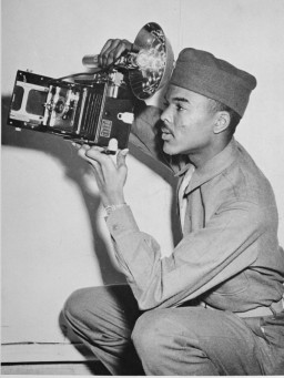 "<p class=""document-desc moreless"">William A. Scott,III, shortly after his induction at Fort Benning, Georgia. Pvt. Scott was at Buchenwald when it was liberated by American forces.<br /><br />Scott was assigned as a photographer with the 318th until June 1944. He left Tuskegee after some testing and was assigned to the Army Specialized Training Program (ASTP) at Howard University in Washington D.C. He completed the 9 month basic engineering program with 5 others out of a group of 310 men in 6 months. He was then assigned to 183rd Engineer Combat Battalion in Camp McCain, Mississippi (Grenada).William A. Scott,III, shortly after his induction at Fort Benning, Georgia. Pvt. Scott was at Buchenwald when it was liberated by American forces.<br /><br />Scott was assigned as a photographer with the 318th until June 1944. He left Tuskegee after some testing and was assigned to the Army Specialized Training Program (ASTP) at Howard University in Washington D.C. He completed the 9 month basic engineering program with 5 others out of a group of 310 men in 6 months. He was then assigned to 183rd Engineer Combat Battalion in Camp McCain, Mississippi (Grenada).</p>"