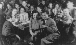 "<p>Refugees from Nazi Germany on board the <a href=""/narrative/4719""><em>St. Louis</em></a> en route to Cuba. The passengers were denied entry into Cuba and the US and were forced to <a href=""/narrative/5063"">return to Europe</a>. 1939.</p>"