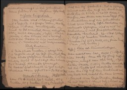 A page of recipes from Eva Oswalt's cookbook she created while interned at Ravensbrück