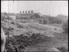 <p>German mobile killing units (Einsatzgruppen) operated in German-occupied territories in eastern Europe during World War II. This rare footage shows a mobile killing unit during a massacre in Liepaja, Latvia. The film was taken, contrary to orders, by a German soldier. Before the war, the Jewish population of Liepaja stood at more than 7,000 residents. German mobile killing squads shot almost the entire Jewish population of the town. When the Soviet army liberated the city in 1945, just 20 to 30 Jews remained.</p>