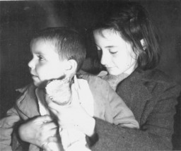<p>Photograph of two of the Tehran Children, who reached Palestine in 1943 via Iran. </p>