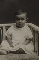 <p>Photograph showing Blanka when she was about 1 year old, ca. 1923. She received this photograph many years later, after she came to America, from her grandmother's half brother.</p>