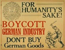 Poster calling for a boycott of German goods