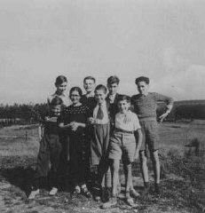 "<p>Jewish children sheltered by the Protestant population of the village of <a href=""/narrative/11043/en"">Le Chambon-sur-Lignon</a>. France, 1941.</p>"