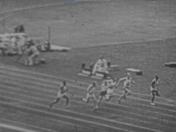 100-meter race at the Olympic Games in Berlin, 1936