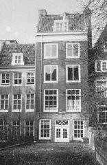 <p>البيت في 263, شارع برينسنغراخت حيث اختبأت آنا فرانك وعائلتها. أمستردام, هولندا.</p>