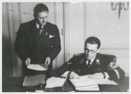 """<div class=""""show-data show-memo-data""""> <p>Adolf Hitler tasked Philipp Bouhler, the director of his private office, and Karl Brandt with co-leading the """"euthanasia"""" program.</p> </div>"""