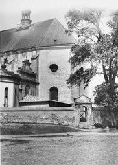 "<p>Postwar photo of a church in the village of Chelmno. Jews were kept in this building en route to the <a href=""/narrative/3852"">Chelmno </a>killing center. Chelmno, Poland, June 1945.</p>"