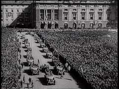 <p>German troops entered Austria on March 12, 1938. The annexation of Austria to Germany was proclaimed on March 13, 1938. In this German newsreel footage, Austrians express overwhelming enthusiasm for the Nazi takeover of their country.</p>