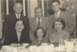 "<p><a href=""/narrative/10415/en"">Thomas</a> (standing, right), then known as ""Tommy,"" with relatives shortly after arriving in the United States. New Jersey, ca. 1952.</p>