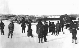 German troops and planes in Norway
