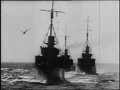<p>Germany invaded Norway on April 9, 1940, simultaneously attacking Norway's coastal cities from Narvik in the far north to Oslo in the south. Despite Allied naval superiority, German naval forces played an important role in the campaign. This footage shows German naval units sailing towards Norway in rough seas. German victory in Norway secured access to the North Atlantic for the German navy, especially the submarine fleet, and safeguarded transports of Swedish iron ore for Germany's war industry.</p>
