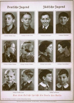 """<p>This 1938 racistillustration compares """"German Youth"""" with """"Jewish Youth."""" It is subtitled, """"From the face speaks the soul of the race."""" It comes from Alfred Vogel's text<em>Inheritance and Racial Hygiene.</em>The Nazis used <a href=""""/narrative/3508"""">racist theories</a> to label groups of people as inferior and as the """"enemy."""" They Nazis claimed that """"superior"""" races had not just the right but the obligation to subdue and even exterminate """"inferior"""" ones.</p>"""