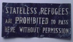 Sign from Shanghai Ghetto