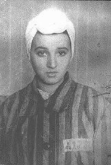 "<p>14-year-old Sara Bialovadska, imprisoned in the Kaiserwald concentration camp near <a href=""/narrative/6400/en"">Riga</a>. <a href=""/narrative/5729/en"">Latvia</a>, 1943.</p>"