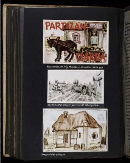 Beifeld album page about partisans and lodgings