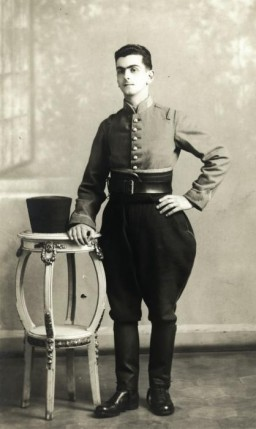 "<p class=""document-desc moreless"">Joseph Roger Cheraki poses in the uniform of an Algerian soldier, ca. 1935.</p>