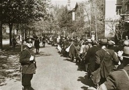 Deportation of the Jews of Wuerzburg. Germany, 1942. [LCID: 46207]
