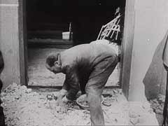 <p>Shortly after the German occupation of Belgrade, Yugoslavia, in April 1941, the Germans forced Jews to clear the rubble caused by the heavy bombardment of the city. This German newsreel footage shows Jews clearing some of the rubble. Most of the city's Jews were later arrested and interned in camps. The German army later shot the Jewish men in retaliation for Serb resistance; the Germans killed the Jewish women and children in gas vans. Only about 2,200 Jews of Belgrade returned to the city after the war.</p>