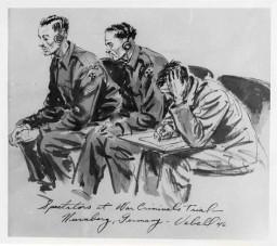 Edward Vebell courtroom sketch