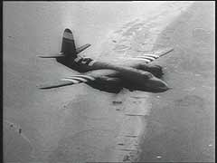 <p>Allied air superiority over Germany was a decisive factor in the success of the D-Day (June 6, 1944) landings in France. This footage shows the Allied bombing of suspected German positions during the battle. Allied air attacks both supported Allied ground operations in Normandy and prevented German reinforcements from reaching the area. The Allies would liberate most of France by the end of August 1944.</p>