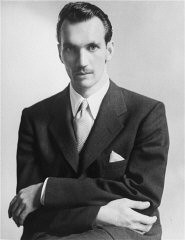 <p>Jan Karski, underground courier for the Polish government-in-exile, informed the West in the fall of 1942 about Nazi atrocities against Jews taking place in Poland. Washington, DC, United States, 1943.</p>