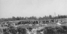 "<p>On September 29-30, 1941, SS and German police units and their auxiliaries, under guidance of members of <a href=""/narrative/2290/en"">Einsatzgruppe </a> C, murdered the Jewish population of Kiev at <a href=""/narrative/5337/en"">Babi Yar</a>, a ravine northwest of the city. </p>