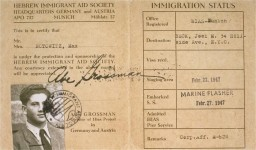 <p>HIAS immigration certificate issued to Manius Notowicz in Munich, Germany. The document states that Notowicz will travel on the Marine Flasher on February 22, 1947, to New York City.</p>