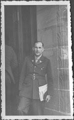 <p>American prosecutor Robert Kempner, at the Nuremberg commission hearings investigating indicted Nazi organizations. July 1946.</p>