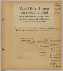 Page from volume 4 of a set of scrapbooks documenting the German occupation of Denmark