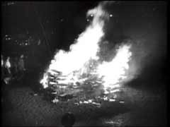 Books burn as Goebbels speaks [LCID: dfb0031g]
