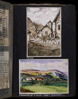 Beifeld album page showing countryside