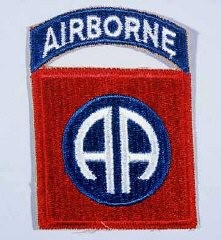 "<p>Insignia of the 82nd Airborne Division. The nickname for the 82nd Airborne Division originated in World War I, signifying the ""All American"" composition of its members. The troops who formed the division came from diverse areas of the United States.</p>"